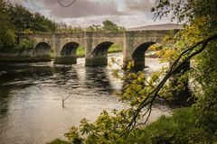 Γέφυρα του Castle Buncrana Κομητεία Donegal Ιρλανδία στοκ εικόνες με δικαίωμα ελεύθερης χρήσης