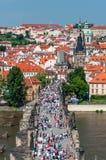 Γέφυρα του Charles και περιοχή Mala Strana, Πράγα Στοκ εικόνες με δικαίωμα ελεύθερης χρήσης