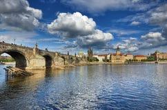 Γέφυρα του Charles, Πράγα Στοκ εικόνα με δικαίωμα ελεύθερης χρήσης