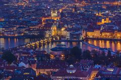 Γέφυρα του Charles στην Πράγα - Δημοκρατία της Τσεχίας στοκ εικόνες