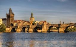 Γέφυρα του Charles στην Πράγα Στοκ εικόνες με δικαίωμα ελεύθερης χρήσης