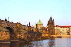 Γέφυρα του Charles στην Πράγα Στοκ φωτογραφία με δικαίωμα ελεύθερης χρήσης