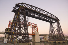 Γέφυρα του Nicolas Avellaneda, Μπουένος Άιρες Στοκ Φωτογραφία