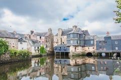 Γέφυρα του Rohan στο κέντρο πόλεων Landerneau σε Finistère στοκ φωτογραφίες με δικαίωμα ελεύθερης χρήσης
