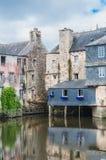 Γέφυρα του Rohan στο κέντρο πόλεων Landerneau σε Finistère στοκ εικόνες με δικαίωμα ελεύθερης χρήσης