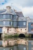 Γέφυρα του Rohan στο κέντρο πόλεων Landerneau σε Finistère στοκ εικόνα με δικαίωμα ελεύθερης χρήσης