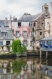 Γέφυρα του Rohan στο κέντρο πόλεων Landerneau σε Finistère στοκ εικόνα