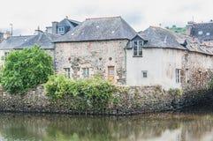 Γέφυρα του Rohan στο κέντρο πόλεων Landerneau σε Finistère στοκ φωτογραφίες
