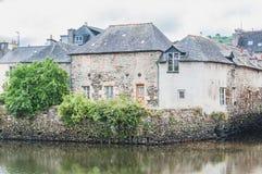 Γέφυρα του Rohan στο κέντρο πόλεων Landerneau σε Finistère στοκ φωτογραφία με δικαίωμα ελεύθερης χρήσης