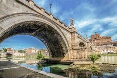 Γέφυρα του ST Angelo Castel, Ρώμη Στοκ φωτογραφία με δικαίωμα ελεύθερης χρήσης