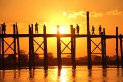Γέφυρα του U Bein | Mandalay, το Μιανμάρ Στοκ Εικόνα