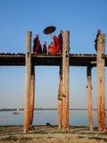 Γέφυρα του U Bein, Mandalay, το Μιανμάρ Στοκ Φωτογραφίες