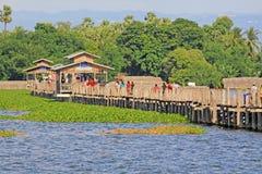 Γέφυρα του U Bein, Myanmar Στοκ Εικόνες