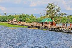 Γέφυρα του U Bein, Myanmar Στοκ Φωτογραφία