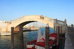 Γέφυρα του Vigo, Chioggia Στοκ φωτογραφία με δικαίωμα ελεύθερης χρήσης