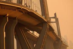 Γέφυρα το βράδυ Στοκ Φωτογραφία