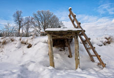 Γέφυρα το χειμώνα Στοκ εικόνες με δικαίωμα ελεύθερης χρήσης