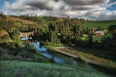 Γέφυρα τραίνων σε αγροτικό σε Palouse Ουάσιγκτον Στοκ Εικόνες