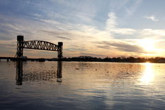 Γέφυρα τραίνων στοκ φωτογραφία