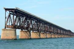 Γέφυρα 3 τραίνων Bahia Honda Στοκ Φωτογραφία