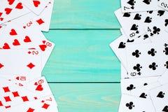 Γέφυρα των καρτών που χρησιμοποιούνται ως πλαίσιο Στοκ Φωτογραφία