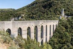 Γέφυρα των πύργων, Spoleto Ιταλία Στοκ φωτογραφία με δικαίωμα ελεύθερης χρήσης