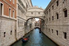 Γέφυρα των στεναγμών στη Βενετία - την Ιταλία Στοκ Εικόνες