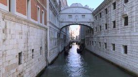 Γέφυρα των στεναγμών - το όνομα μια από τις γέφυρες στη Βενετία απόθεμα βίντεο
