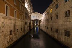Γέφυρα των στεναγμών (dei Sospiri Ponte) Στοκ Φωτογραφίες