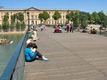 Γέφυρα των τεχνών στο Παρίσι, Γαλλία Στοκ φωτογραφίες με δικαίωμα ελεύθερης χρήσης