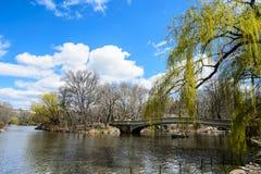Γέφυρα τόξων, κεντρικό πάρκο, πόλη της Νέας Υόρκης Στοκ φωτογραφία με δικαίωμα ελεύθερης χρήσης
