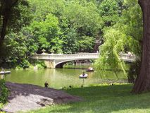 Γέφυρα τόξων στο Central Park, NYC στοκ εικόνα με δικαίωμα ελεύθερης χρήσης