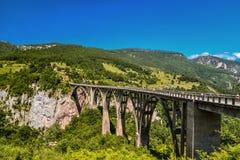 Γέφυρα τόξων της Tara Durdevica Στοκ Φωτογραφία
