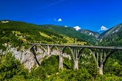 Γέφυρα τόξων της Tara Durdevica Στοκ Εικόνες