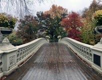 Γέφυρα τόξων, Central Park, Νέα Υόρκη Cit στοκ φωτογραφία
