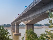 Γέφυρα φιλίας Thai†«λαοτιανή Λάος vientiane Στοκ Εικόνες