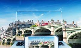 Γέφυρα φωτογράφισης και εξέτασης Γουέστμινστερ, Λονδίνο Στοκ φωτογραφίες με δικαίωμα ελεύθερης χρήσης