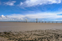 Γέφυρα, φόρος που διασχίζουν μεταξύ της Αγγλίας και Wale αναστολής Severn Στοκ φωτογραφία με δικαίωμα ελεύθερης χρήσης