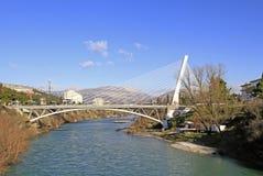 Γέφυρα χιλιετίας σε Podgorica, Μαυροβούνιο Στοκ Εικόνες