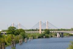 Γέφυρα χιλιετίας Wroclaw Στοκ Φωτογραφίες