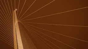 Γέφυρα χορδών της Ιερουσαλήμ τη νύχτα Στοκ Εικόνα