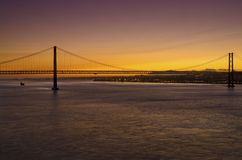 Γέφυρα 25 Απριλίου Στοκ Φωτογραφίες