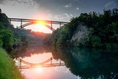 Γέφυρα adda δ ` Paderno στοκ εικόνες