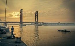 Γέφυρα Ampera Στοκ Φωτογραφία