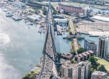 Γέφυρα Anzac, εναέρια άποψη του Σίδνεϊ Στοκ φωτογραφία με δικαίωμα ελεύθερης χρήσης