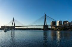 Γέφυρα ANZAC και εικονική παράσταση πόλης του Σίδνεϊ CBD Στοκ φωτογραφία με δικαίωμα ελεύθερης χρήσης