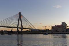 Γέφυρα Anzac στο σούρουπο στο Σίδνεϊ Αυστραλία που βλέπει από Pyrmont Στοκ φωτογραφίες με δικαίωμα ελεύθερης χρήσης