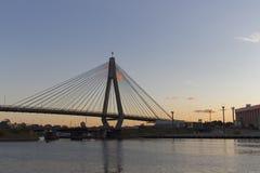 Γέφυρα Anzac στο σούρουπο στο Σίδνεϊ Αυστραλία που βλέπει από Pyrmont Στοκ Εικόνα
