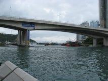 Γέφυρα AP Lei Chau, καταφύγιο δυτικού τυφώνα του Αμπερντήν, Χονγκ Κονγκ στοκ εικόνα με δικαίωμα ελεύθερης χρήσης