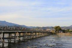 Γέφυρα Arashiyama στο Κιότο, Ιαπωνία Στοκ Εικόνες